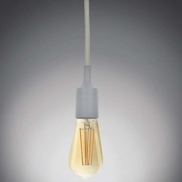UL-listed Single Socket Pendant Light Fixture (Multi-color), Textile Insulating Lamp Cord, Silicon E26/E27 Lamp Holder