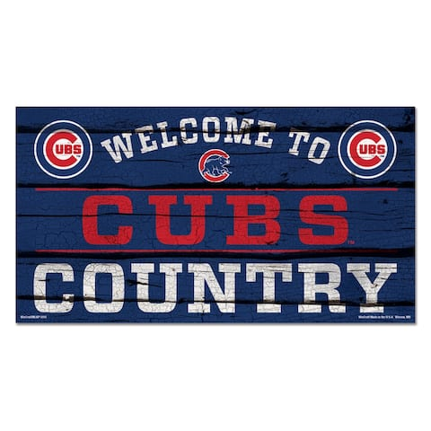 """Chicago Cubs Country 13"""" x 24"""" Wood Sign"""