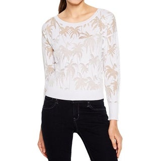 Vince Camuto Womens Pullover Top Burnout Sheer