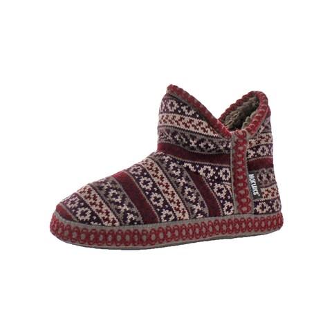 Muk Luks Womens Pattern Adraiana Bootie Slippers Sweater Furpa