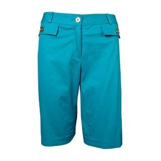 Michael Kors Women's Button Flap Bermuda Shorts