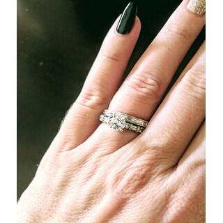 Montebello Platinum 1/2ct TDW Baguette-cut White Diamond Channel-set Wedding Band