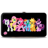 Six Ponies Group Pose Black Hinged Wallet - One Size Fits most