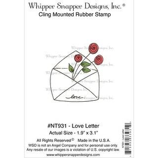 "Whipper Snapper Cling Stamp 4""X6""-Love Letter"