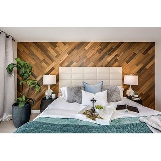 Timberchic Reclaimed Wooden Wall Planks - Peel and Stick Application (Sandy Beach)