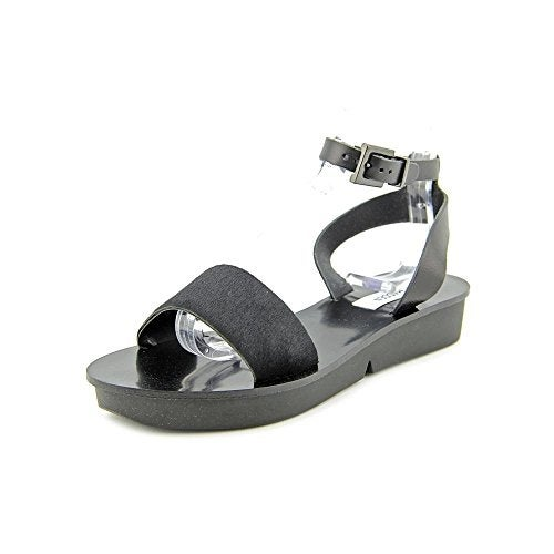Steve Madden Womens Meetra Calf Hair Open Toe Casual Ankle Strap Sandals - 7