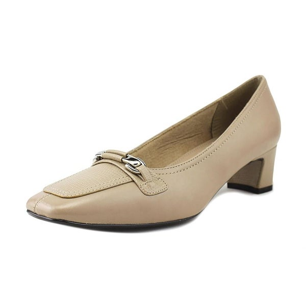 Life Stride Jeopardy Women Square Toe Synthetic Tan Heels