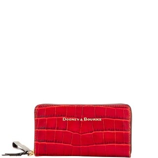 Dooney & Bourke City Lafayette Large Zip Around Wristlet (Introduced by Dooney & Bourke at $168 in Aug 2016) - Red
