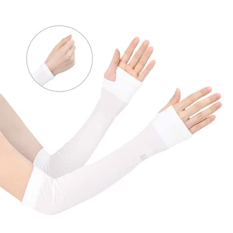 UV Sun Protection Reflective Arm Cooling Sleeves for Cycling, Driving, Outdoor Sports for Men Women