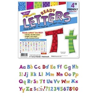 Trend Enterprises Furry Friends Patchwork Letters Combo Pack, 4 inch, Set of 225