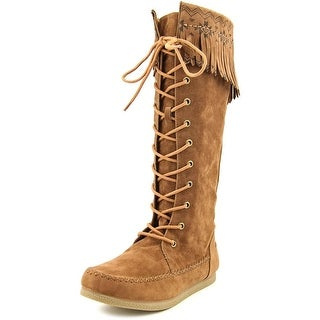 Rocket Dog Verona Women Round Toe Canvas Brown Knee High Boot