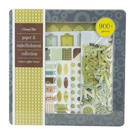 MemoryStor Paper & Embellishment Collection in Urban Coffee House Theme