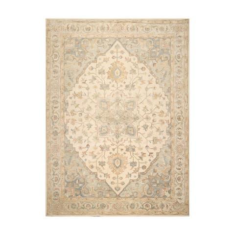 Hand Tufted Tabriz Ivory Persian Wool Traditional Oriental Rug (8x10)