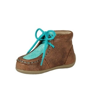 Blazin Roxx Western Shoes Girls Mia Lace Vintage Glazed Moc