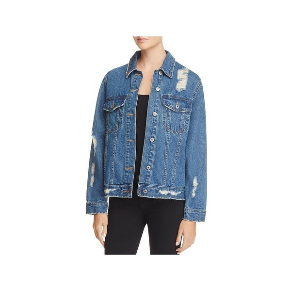 1ba4163df39b2 Shop Sunset   Spring Womens Jean Jacket Fall Destroyed - Free ...