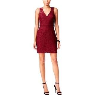 BCBGeneration Womens Mini Dress Deep V Lace