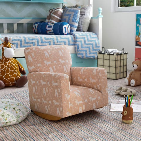 Furniture of America Korvella Transitional Animal Print Rocking Chair