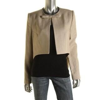 Carven Womens Veste Lin Linen Bow Jacket
