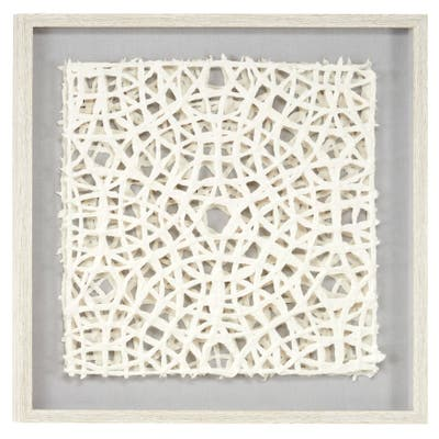 """Grey MDF Coastal Shadow Box Abstract 24 x 24 x 1 - 24""""W, 24""""H"""