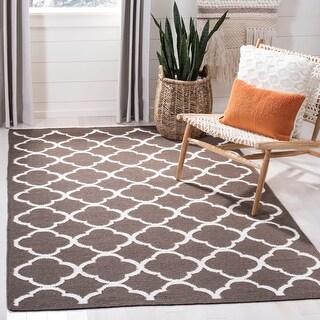 Link to Safavieh Handmade Flatweave Dhurries Kathlene Modern Moroccan Wool Rug Similar Items in Transitional Rugs