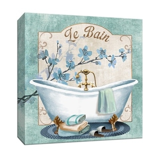 "PTM Images 9-146769  PTM Canvas Collection 12"" x 12"" - ""Le Bain"" Giclee Bathroom Art Print on Canvas"