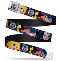 Justice League Jl Full Color White Blue Red Justice League Girls Faces Seatbelt Belt