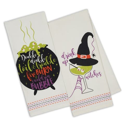 DII Witchy Brew Printed Dishtowels (Set of 2)