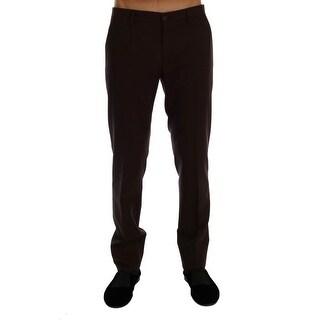 Dolce & Gabbana Purple Wool Stretch Formal Pants
