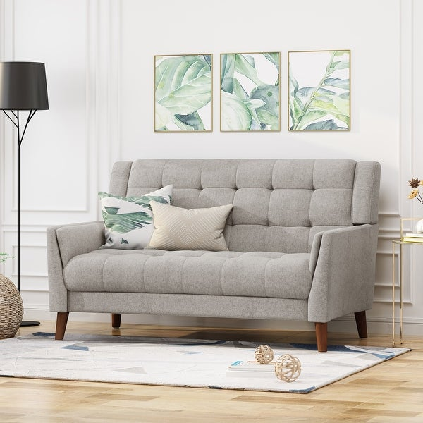 Candace Mid-century Modern Fabric Loveseat by Christopher Knight Home. Opens flyout.
