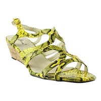 Annie Shoes Womens Xf310-C5-M Yellow Open Toe Heels Size 12