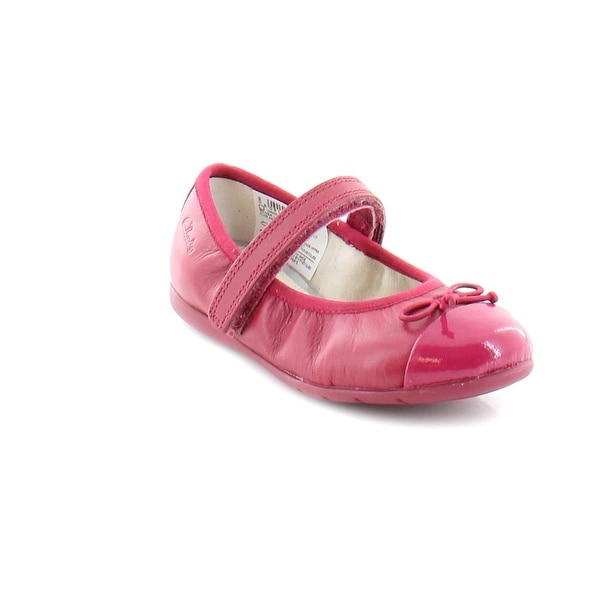 Shop Clarks Dance Rosa Toddler Girls Flats Berry - Free Shipping On ...