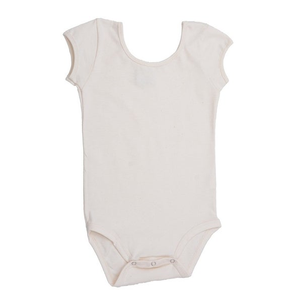 Baby Girls White Cap Sleeve Ultra Soft Organic Cotton Bodysuit 0-12M