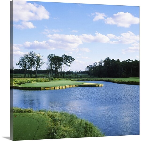 """""""Pond in a golf course, Carolina Golf and Country Club, Charlotte, North Carolina"""" Canvas Wall Art"""