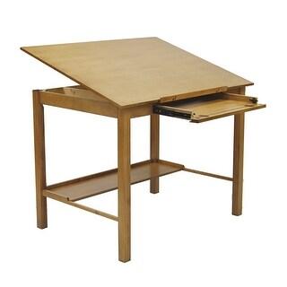 "Offex Americana II Drafting 36"" x 48"" Table - Light Oak"
