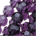 Amethyst Purple Glass Faceted Round Beads 8mm (21 Inch Strand) - Thumbnail 0
