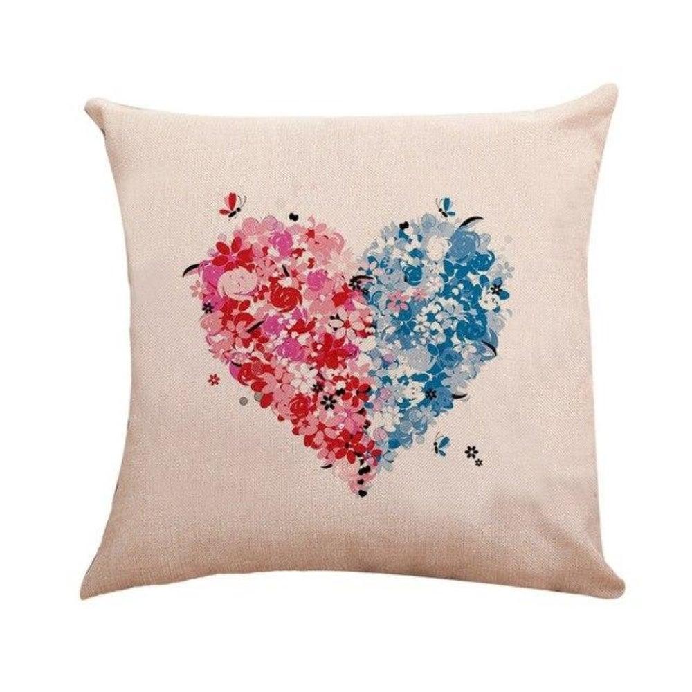 Heart Pattern Throw Pillow Case