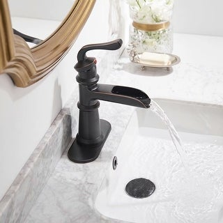 Link to SuperBrite Cupc Certified Waterfall Single Handle One Hole Oil Rubbed Bronze Bathroom Sink Faucet Lavatory Faucets Similar Items in Faucets