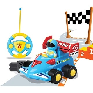 RC Cartoon Race Car Radio Remote Control Racing Toy Gift for Baby Toddlers Kids