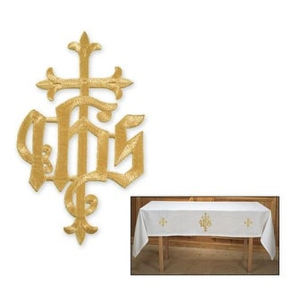 Church Supply Cross with IHS Applique, 6.5 x 11 in.