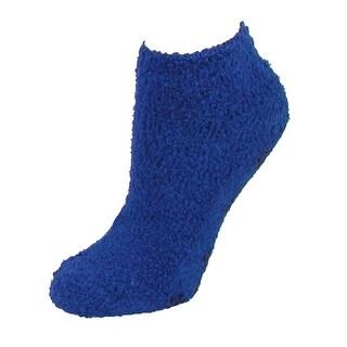 CTM® Women's No Show Slipper Socks with Non Skid Gripper Soles