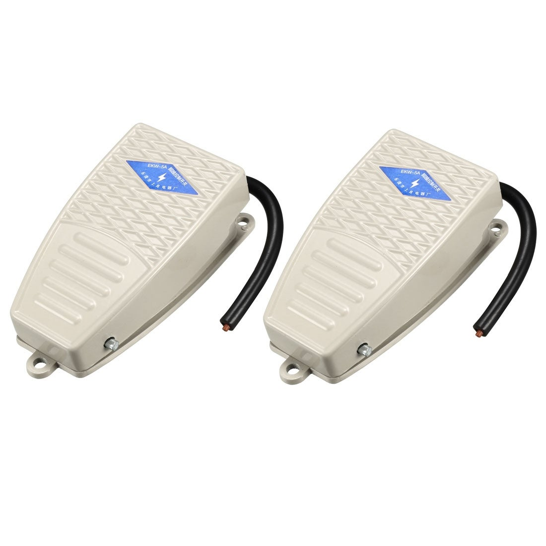 Electric Power Pedal Aluminum Momentary Switch Non-Slip SPDT NO NC 220V 5A 2PCS