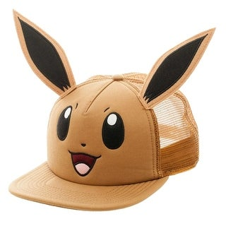 Pokemon Eevee Big Face Snapback Hat - multi