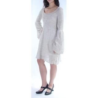 FREE PEOPLE $168 Womens New 1198 Ivory Bell Sleeve Scoop Neck Dress M B+B