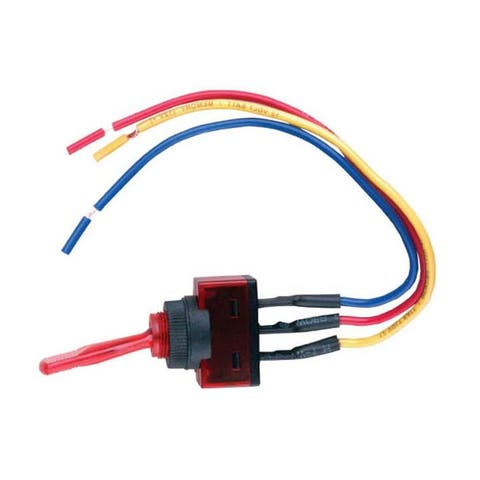 Nippon is-ec-it1220red nippon illuminated toggle switch with 6 lead wire red