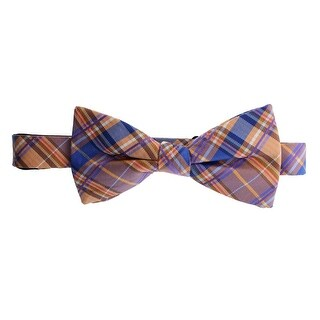 Countess Mara Mens Silk Plaid Bow Tie - o/s