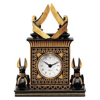Design Toscano Temple of Anubis Egyptian Revival Sculptural Clock
