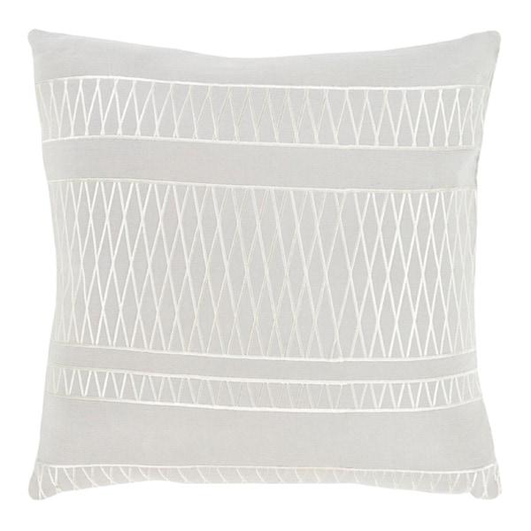 "18"" Illumination Ash and Edgecomb Gray Decorative Throw Pillow - Down Filler"