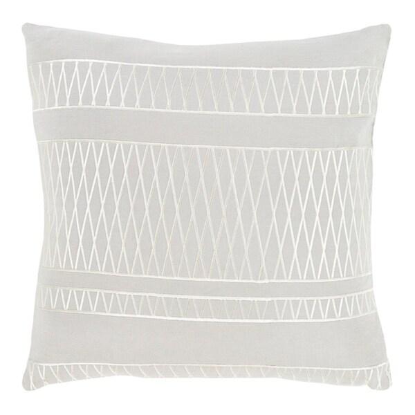 "18"" Illumination Ash and Edgecomb Gray Decorative Throw Pillow"