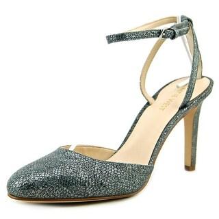 Nine West Honsity Round Toe Leather Heels