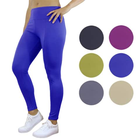 Women's Solid Color Stretch Leggings